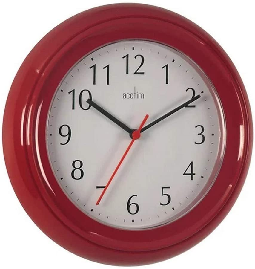 Acctim Wycombe Wall Clock, Red