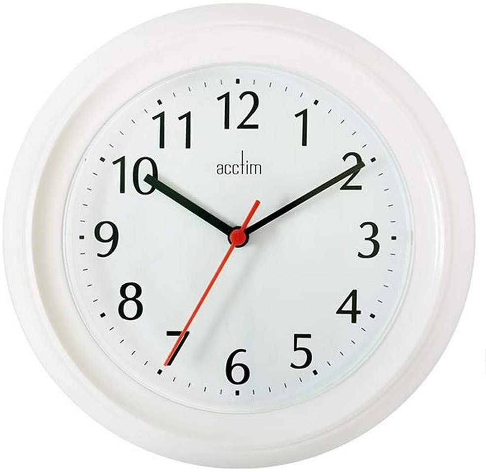 Acctim Wycombe Wall Clock, white