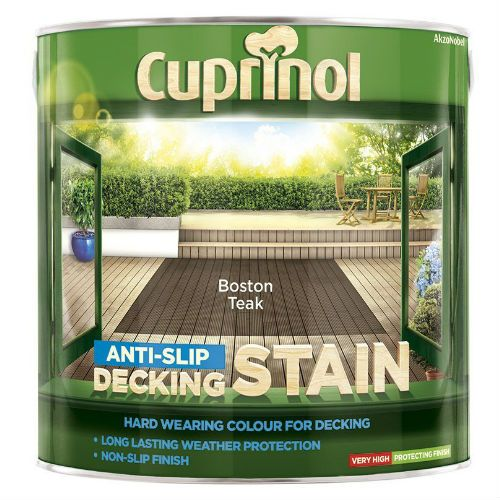 Cuprinol Boston Teak Anti Slip Decking Stain 2.5L