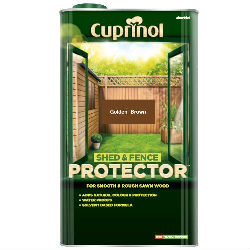 Cuprinol Gold Brown Shed and Fence Protector 5L