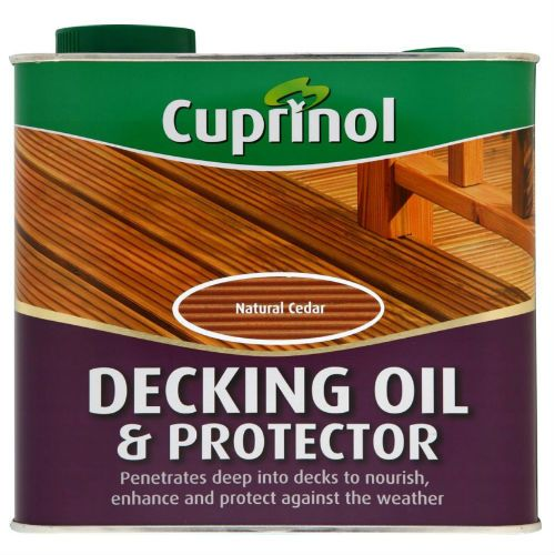 Cuprinol Natural Oak UV Guard Decking Oil Protector 5L