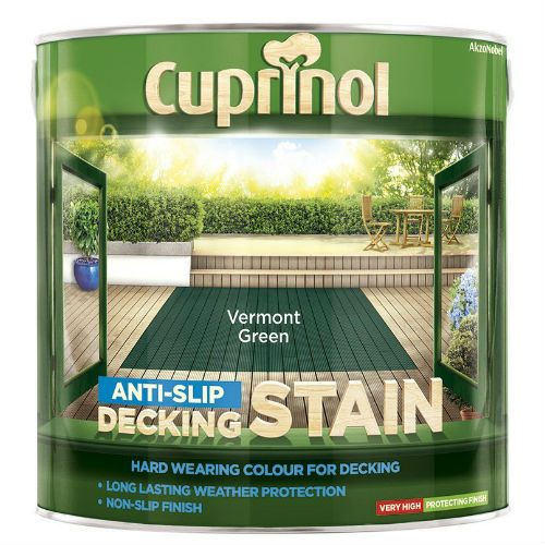 Cuprinol Vermont Green Anti Slip Decking Stain 2.5L