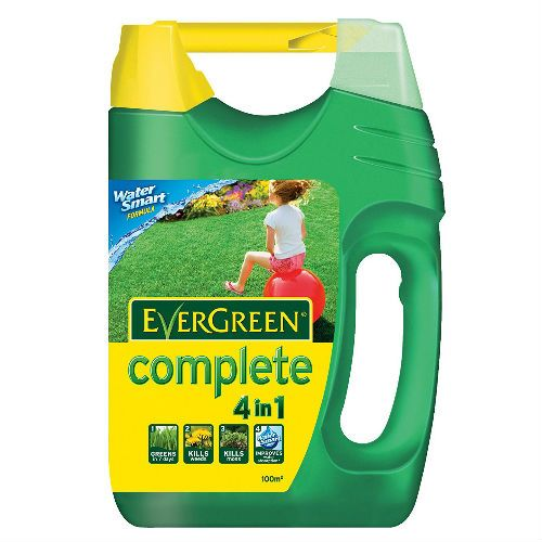 EverGreen Complete 4 In 1 Lawn Food Weed and Moss Killer Spreader 100 sq m