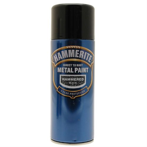 Hammerite Hammered Black Metal Paint 400ml Spray Can
