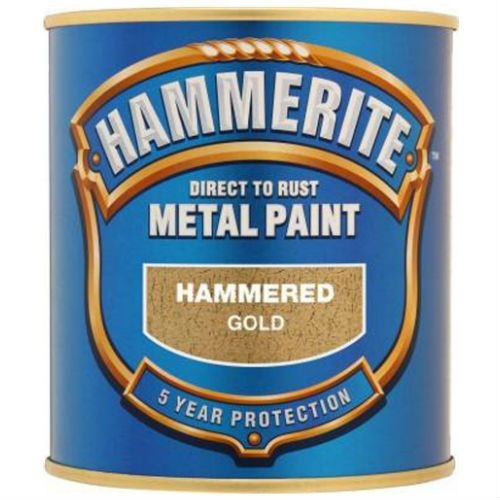 Hammerite Hammered Gold Metal Paint 250ml
