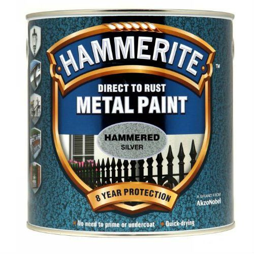 Hammerite Hammered Silver Metal Paint 2.5L