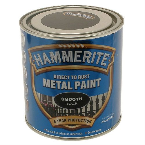 Hammerite Smooth BlackMetal Paint 2.5L