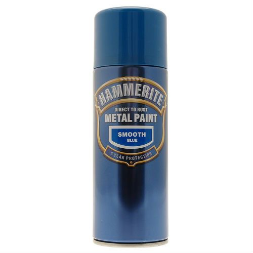 Hammerite Smooth Blue Metal Paint Spray Can 400ml