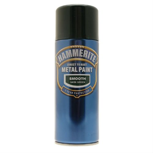 Hammerite Smooth Green Metal Paint Spray Can 400ml