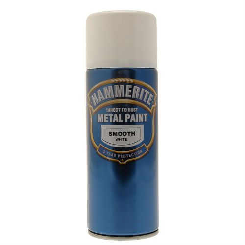 Hammerite Smooth White Metal Paint Spray Can 400ml